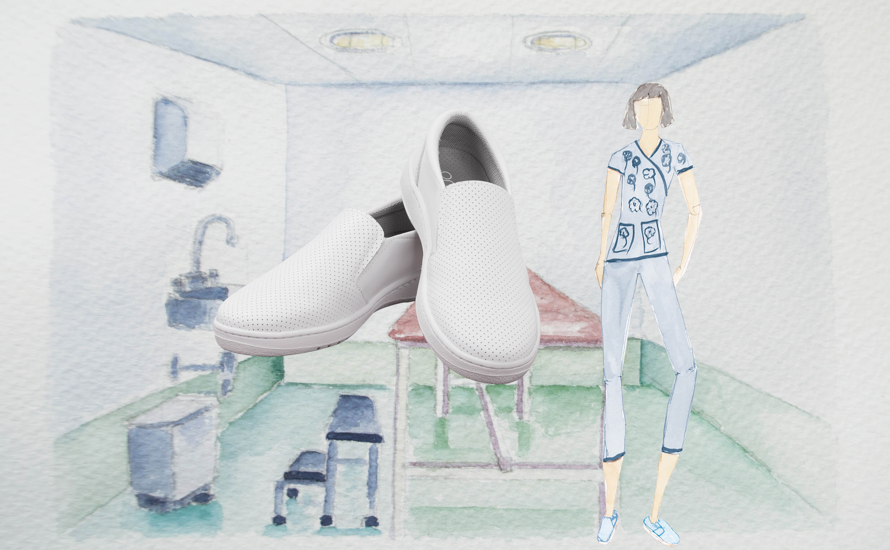 Shoes for healthcare industry
