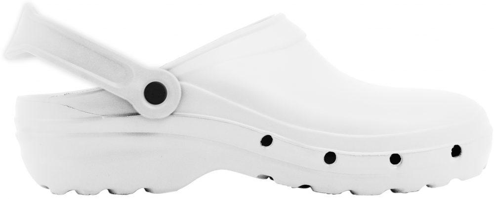 Zueco sanitario marca Oneflex color blanco